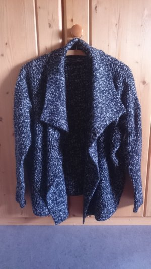 Oversize Strick Knit Salt&Pepper Cardigan schwarz weiß 36 38 S