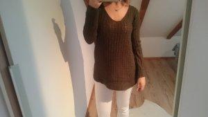 Oversize Strick Pullover khaki