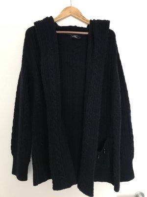 Veste tricotée en grosses mailles bleu foncé