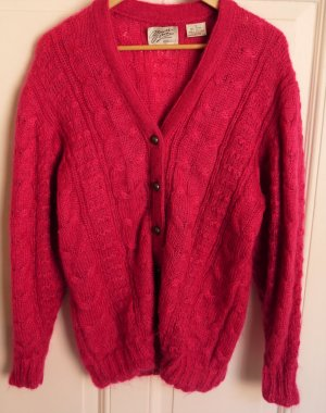 Coarse Knitted Jacket neon red mixture fibre