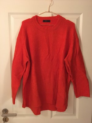 Oversize Strickpulli Zara in rot/orange