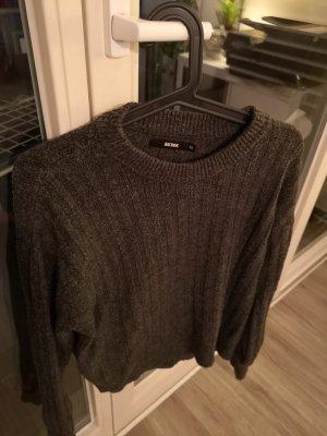 Bik Bok Knitted Sweater light grey-black