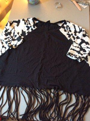 Oversize Sweat in schwarz mit 3/4 Ärmeln von Gina Tricot