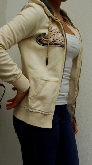 oversize Sweater Khujo Hoodie Jacke Jacket nude beige