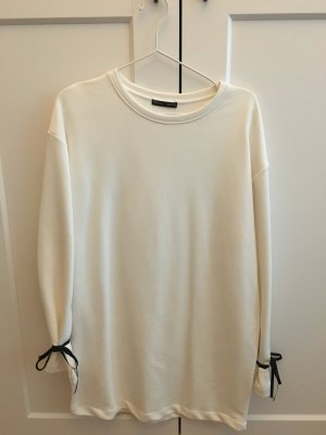 Zara Vestido de tela de sudadera negro-blanco