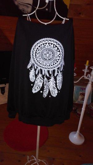 Sweatshirt blanc-noir