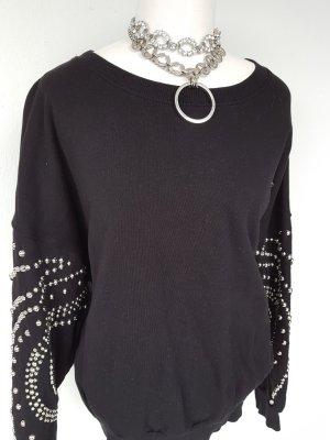 Oversize-Sweatshirt mit angenähten Perlen-Nieten Bershka Gr. L