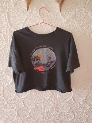 Bershka Oversized Shirt anthracite cotton