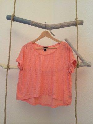 Oversize T-Shirt in M mit Lochmuster in wunderschönem Apricot von H&M