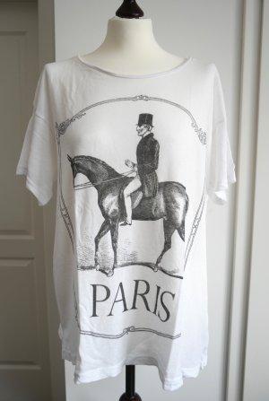 Oversize T-Shirt von Wildfox in weiß mit Print Gr. 1