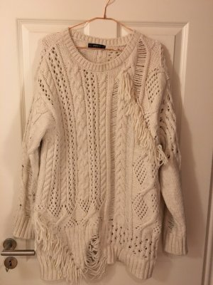 Zara Knit Oversized Sweater natural white