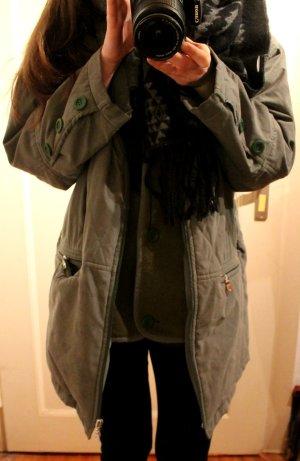 Oversize // True Vintage grüne Jacke / Mantel / Parka / Minimal