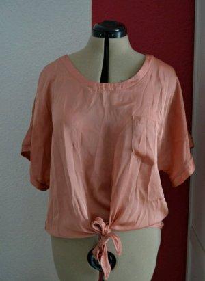 oversize Tshirt apricotfarben mit Schleife