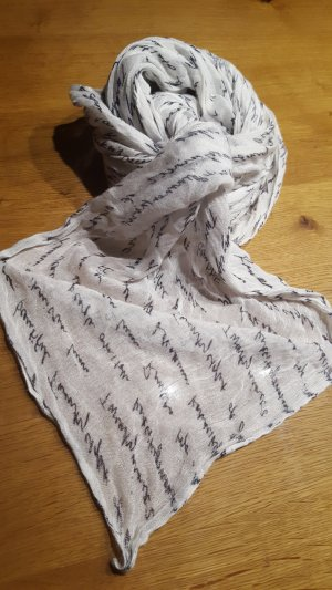 Écharpe blanc-noir