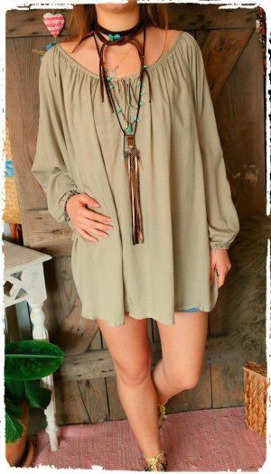 Hippie Dress light brown-beige
