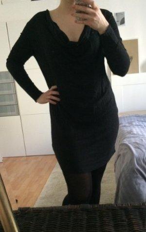 Oversize Tunika schwarz von Zara S