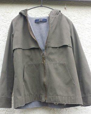 Oversize Übergangsjacke von Zara, khaki, wie neu, Größe 34, XS