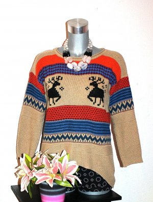 Oversize Winter Strick Pullover gr.40/42 Norweger Strickpullover