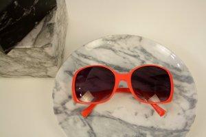 Oversize XXL Sonnenbrille 60s 60er Stil lachsrot Blogger Italy Design