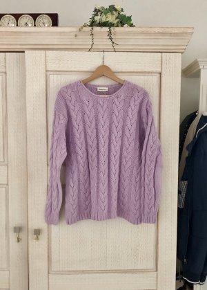 Vintage Pull oversize violet coton