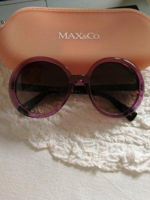 Max Mara Ronde zonnebril lila