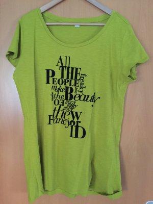Oversized apfelgrünes Shirt