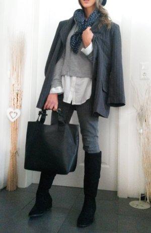 Giacca lunga antracite-grigio