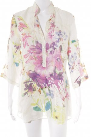 Oversized Bluse Blumenmuster Casual-Look