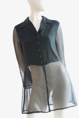 Oversized Bluse mit Chiffon-Einsätzen