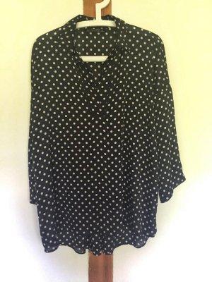 Oversized-Bluse mit Punkten von Zara