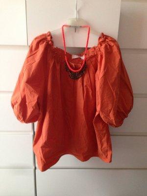 Oversized bluse orangebraun NEU