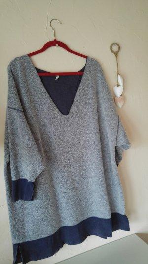 oversized cosy sweater von free people mit grossem v ausschnitt