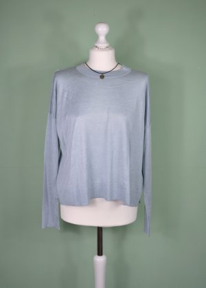 H&M Oversized Sweater sage green-pale blue