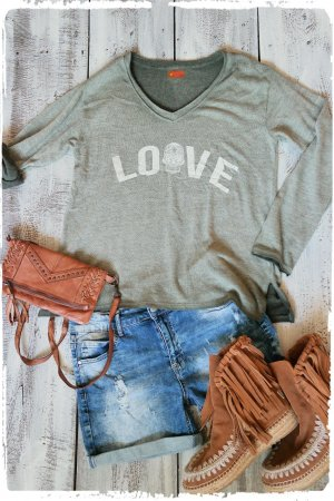 oversized Feinstrick Shirt Love