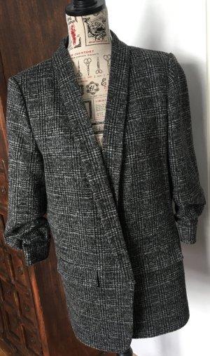 Oversized Glencheck Blazer Zara