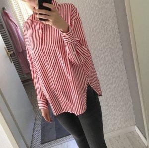 Oversized Hemd gestreift