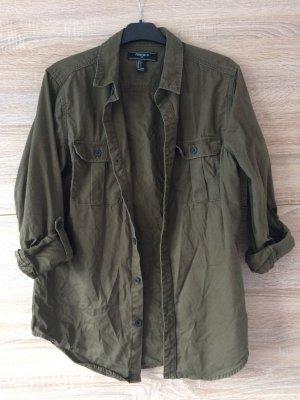Forever 21 Shirt met lange mouwen groen-grijs-khaki