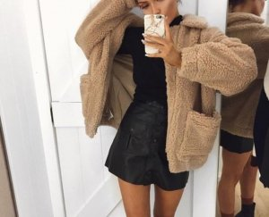 PrettyLittleThing Fake Fur Jacket multicolored