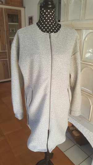 NÜ Denmark Coat silver-colored-white cotton