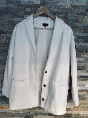 Oversized Jacket Jacke Kurzmantel von Topshop in weiß gr.xxs