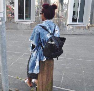 Oversized Jeans Jacke + DIY