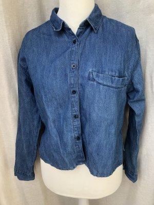 Pull & Bear Camicia denim blu acciaio