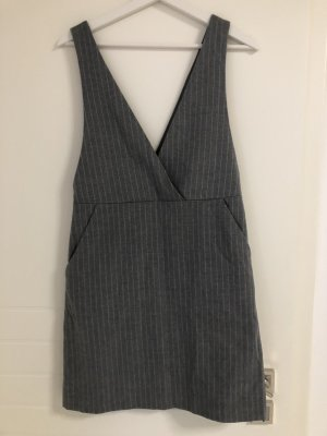 Oversized Kleid gestreift Grau