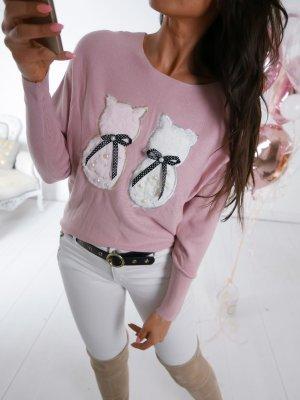 Oversized Sweater rose-gold-coloured-white