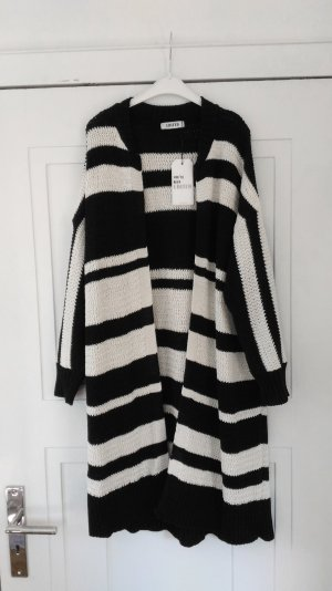 Oversized Long Cardigan Edited The Label Streifen Grobstrick Strickjacke Gr. M