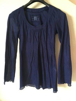 Oversized Longshirt in dunkelblau