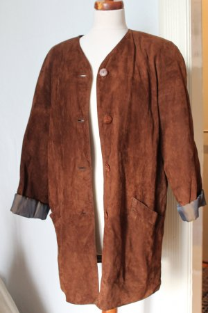 The Vintage Shop Cappotto in pelle cognac