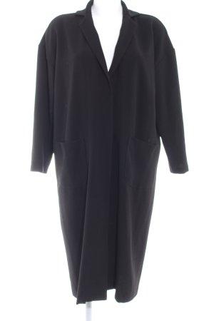 Oversized Mantel schwarz Casual-Look