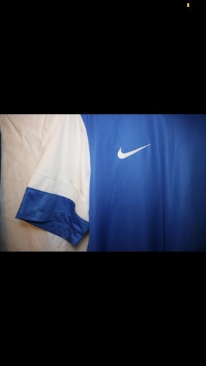 Nike Sportshirt wit-blauw