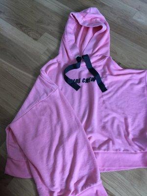 Oversized Pinkes kapuzenshirt